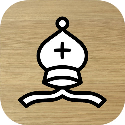 Chess puzzles! iOS app icon
